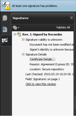 Resolving Signature Problems in Adobe Reader – Agreement