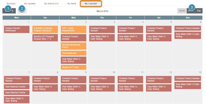 Calendar Features