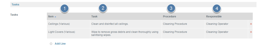 Define Cleaning Tasks