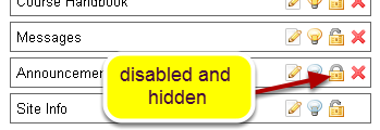Disable a tool.