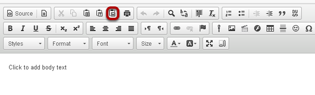 Click the Paste from Word icon.