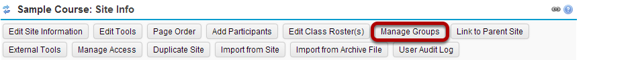 Click on Manage Groups.