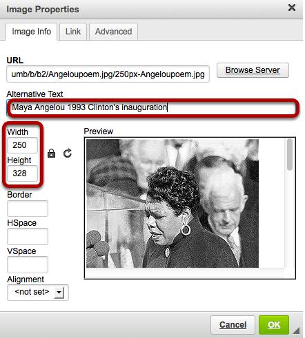 Modify image properties.