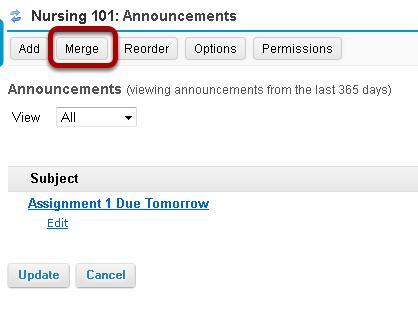 Click Merge.