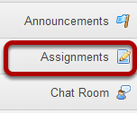 To access this tool, select Assignments in the Tool Menu of your site.
