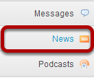 To access this tool, select the News item from the Tool Menu of your site.