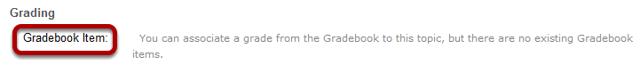 Select grading options.