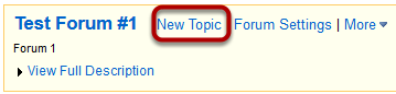 Select New Topic.