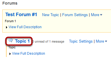 Select a forum topic.