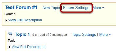 You can also click Format Settings next to the forum you want to delete.