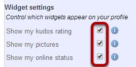 Manage widget settings.
