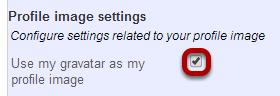 Manage profile image settings.