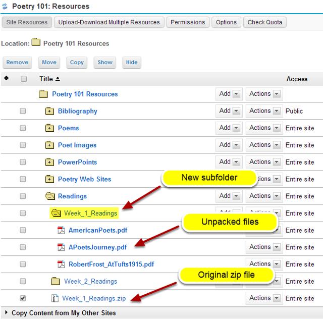 View zip contents in Resources.