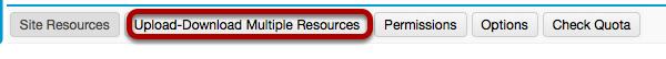 Click Upload-Download Multiple Resources.