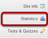 To access this tool, select Statistics from the Tool Menu of your site.