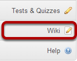 To access this tool, select Wiki from the Tool Menu in your site.
