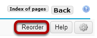 Reordering page items.