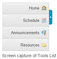 The List of Tools for the Current Site