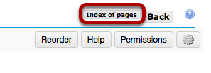 Click Index of Pages to view all pages.