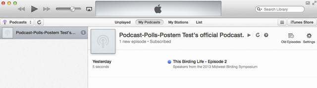 View subscribed podcast.