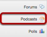 Go to Podcasts.
