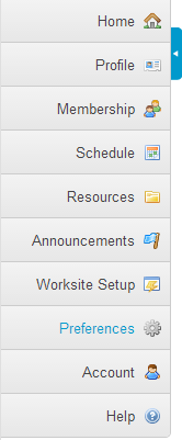 My Workspace Tool Menu.