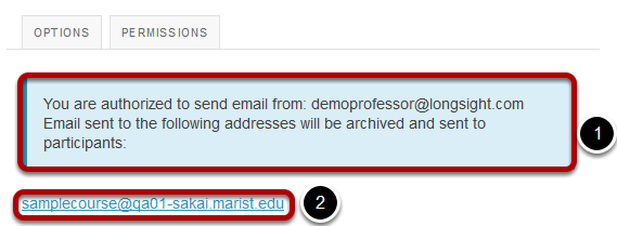 Locate email address for sending messages to the archive.