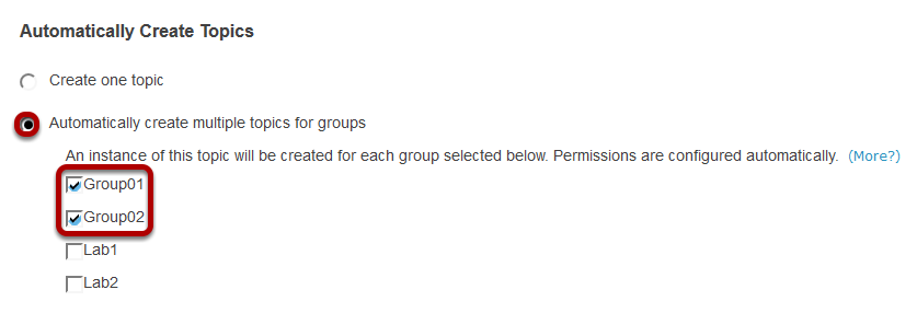 Automatically create topics for groups