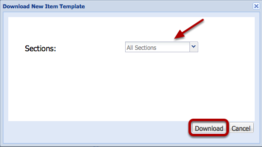 Select the default All Sections, then click Download.