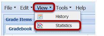 Click View > Statistics.
