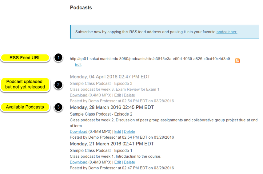 Example of a site Podcast.