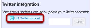 Manage Twitter integration.