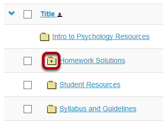 View subfolders in Resources.