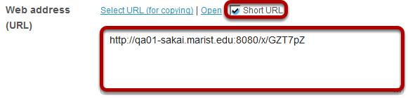Copy short URL. (Optional)
