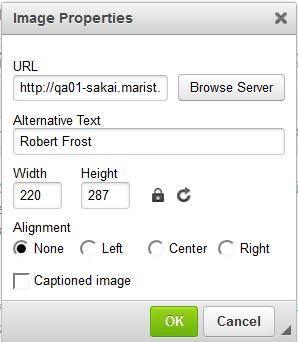 Modify image properties. (Optional)