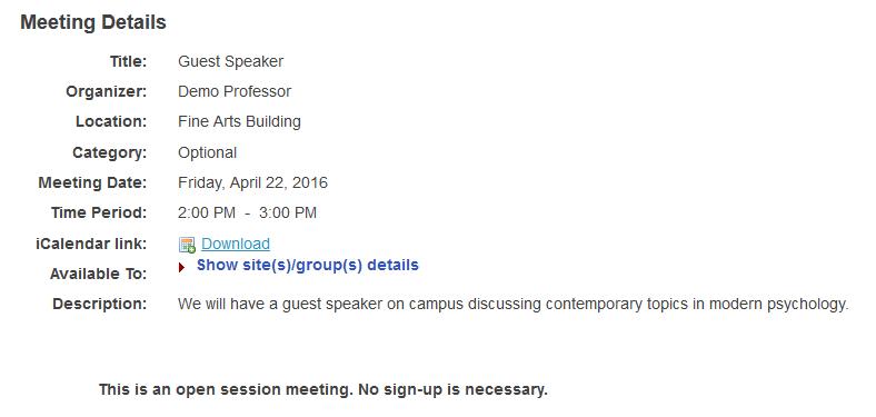 Open meetings.