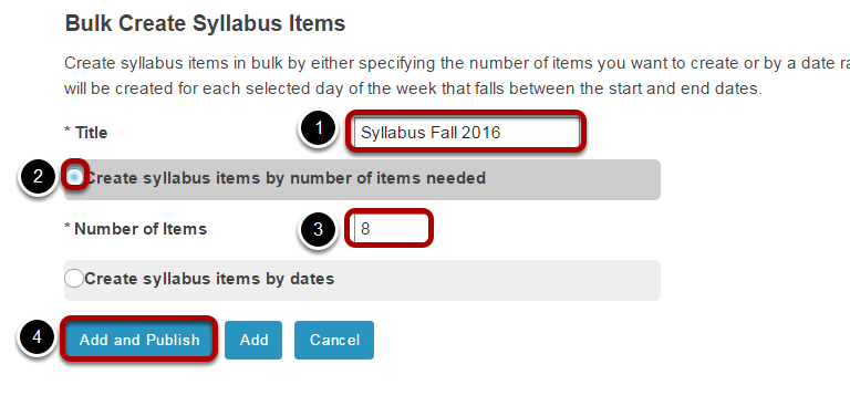 Enter Syllabus information.