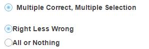 Multiple Correct, Multiple Selection