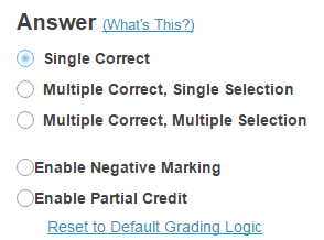 Choose the answer configuration.