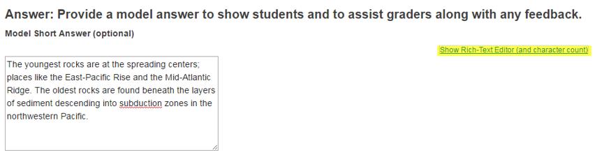 Provide model answer. (Optional)