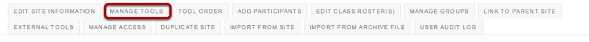 Click Manage Tools.
