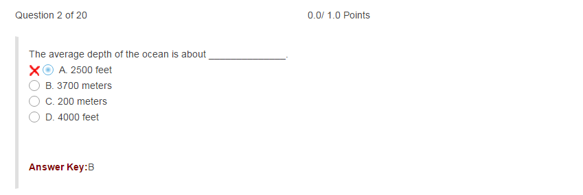 Incorrect answers are marked with a red X.