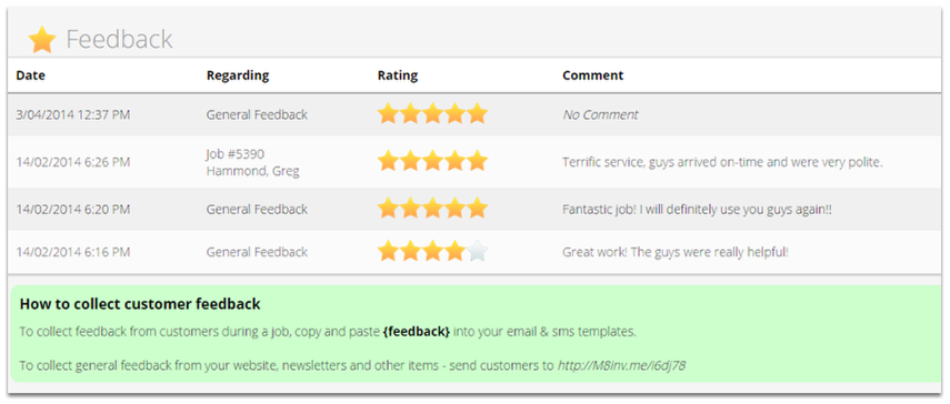 That's it. You can now send this email template to your clients and start receiving feedback from your customers.