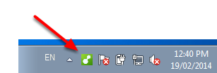 Locate the MYOB connector icon down the bottom right of the screen