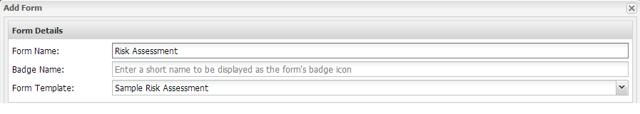 Enter the form details