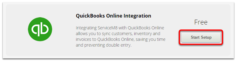 Click Connect on the QuickBooks Online Integration