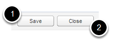 Click Save and close the job