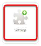In the Dashboard, click Settings