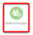 Or click the Referral Program in the Settings page
