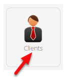In the Dashboard, click Clients